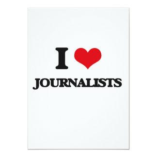 Amo a periodistas invitación 12,7 x 17,8 cm