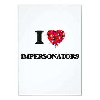 Amo a personificadores invitación 8,9 x 12,7 cm