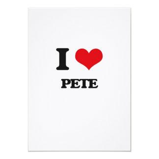 Amo a Pete Invitación 12,7 X 17,8 Cm