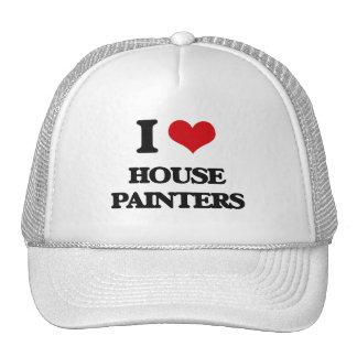 Amo a pintores de casa gorros bordados
