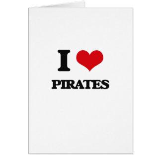 Amo a piratas tarjetón