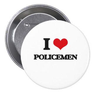 Amo a policías pin