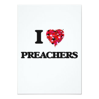 Amo a predicadores invitación 12,7 x 17,8 cm