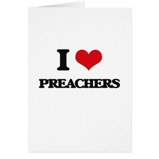 Amo a predicadores felicitación