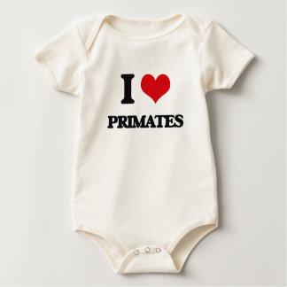 Amo a primates traje de bebé