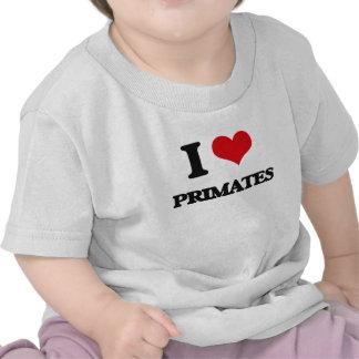 Amo a primates camiseta