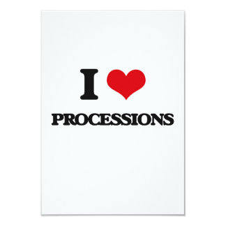 Amo a procesiones invitación 8,9 x 12,7 cm
