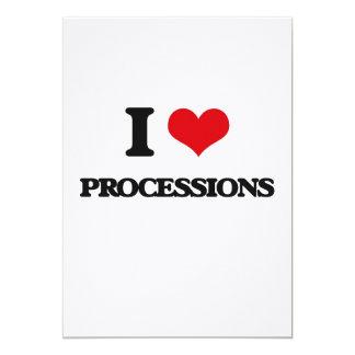 Amo a procesiones invitación 12,7 x 17,8 cm