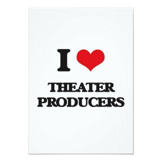 Amo a productores del teatro invitación 12,7 x 17,8 cm