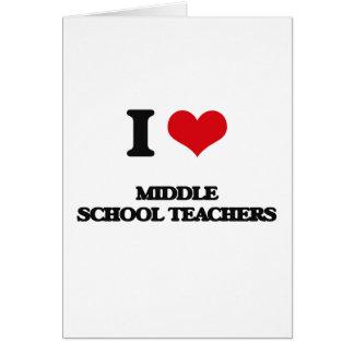 Amo a profesores de escuela secundaria tarjeton