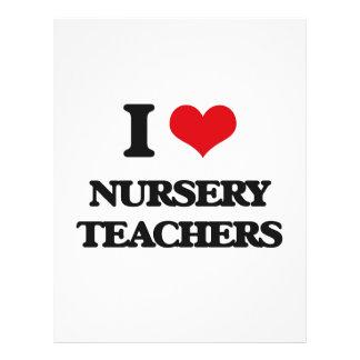 Amo a profesores del cuarto de niños tarjetas publicitarias