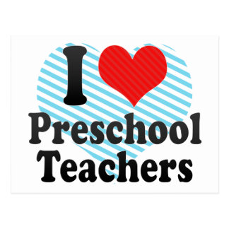 Amo a profesores preescolares tarjeta postal