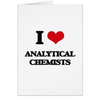 Amo a químicos analíticos tarjeta de felicitación