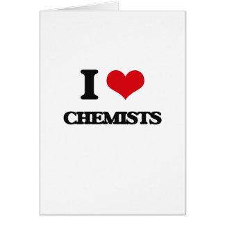 Amo a químicos tarjeta de felicitación