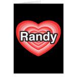 Amo a Randy. Te amo Randy. Corazón Felicitacion
