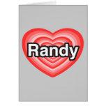 Amo a Randy. Te amo Randy. Corazón Felicitaciones
