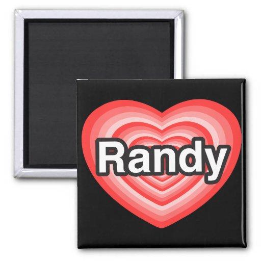 Amo a Randy. Te amo Randy. Corazón Imán Cuadrado