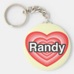 Amo a Randy. Te amo Randy. Corazón Llaveros Personalizados
