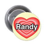 Amo a Randy. Te amo Randy. Corazón Pin