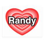 Amo a Randy. Te amo Randy. Corazón Postal