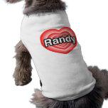 Amo a Randy. Te amo Randy. Corazón Camisas De Perritos