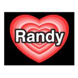 Amo a Randy. Te amo Randy. Corazón Tarjetas Postales