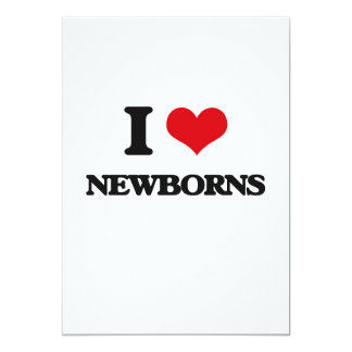 Amo a recién nacidos anuncios personalizados