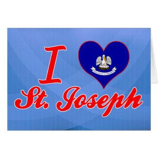 Amo a San José Luisiana Tarjetón
