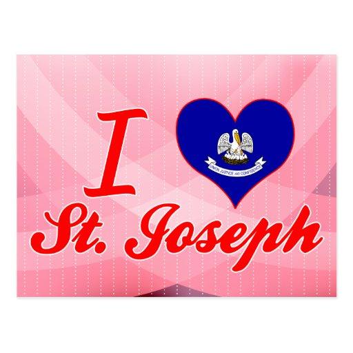 Amo a San José, Luisiana Tarjeta Postal