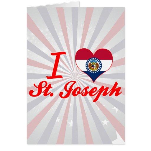 Amo a San José, Missouri Felicitación