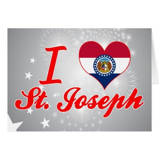 Amo a San José, Missouri Tarjetón