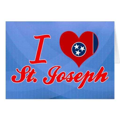 Amo a San José, Tennessee Tarjeta