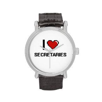 Amo a secretarias relojes