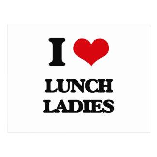 Amo a señoras del almuerzo postal