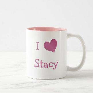 Amo a Stacy Taza De Dos Tonos