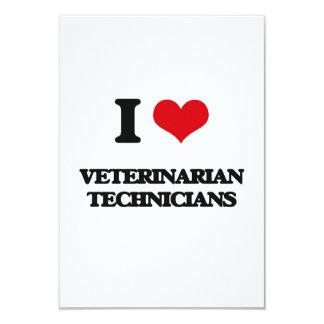 Amo a técnicos veterinarios invitación 8,9 x 12,7 cm