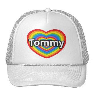 Amo a Tommy. Te amo Tommy. Corazón Gorro De Camionero