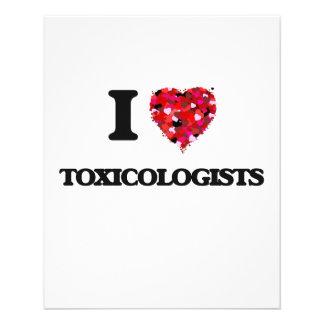Amo a toxicólogos folleto 11,4 x 14,2 cm