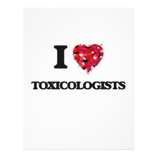 Amo a toxicólogos folleto 21,6 x 28 cm
