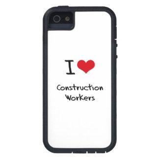 Amo a trabajadores de construcción iPhone 5 Case-Mate carcasa
