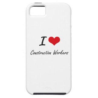 Amo a trabajadores de construcción iPhone 5 protector