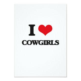 Amo a vaqueras invitación 12,7 x 17,8 cm