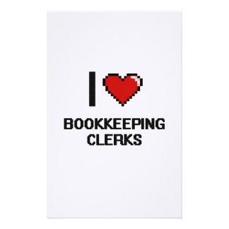 Amo a vendedores de la contabilidad  papeleria de diseño