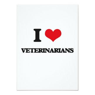 Amo a veterinarios invitación 12,7 x 17,8 cm