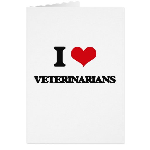 Amo a veterinarios felicitación