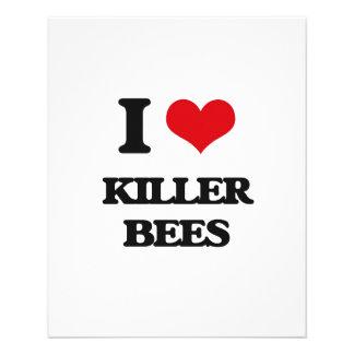 Amo abejas de asesino folleto 11,4 x 14,2 cm