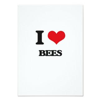 Amo abejas invitación 12,7 x 17,8 cm