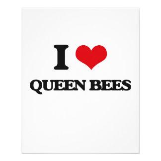 Amo abejas reinas folleto 11,4 x 14,2 cm