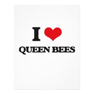 Amo abejas reinas folleto 21,6 x 28 cm