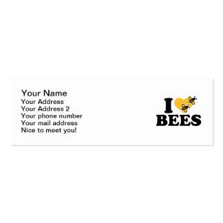 Amo abejas tarjetas de visita